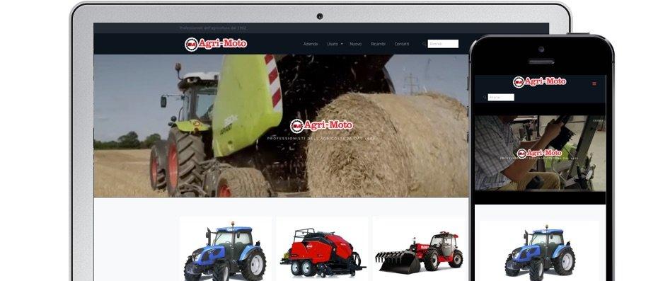 Realizzazione sito web Agri-Moto - Agile srl Mirandola Modena