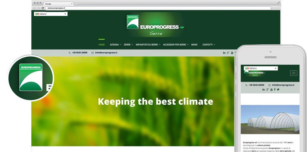 realizzazione Sito web Europrogress Agile srl Mirandola